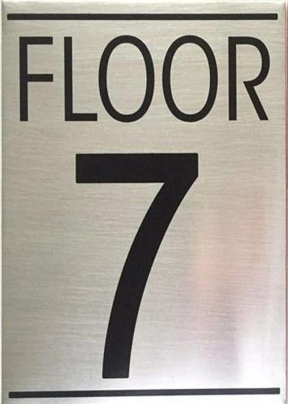 FLOOR SEVEN 7 SIGN -Delicato line