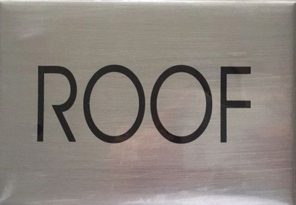 ROOF SIGN - Delicato line (BRUSHED ALUMINUM)