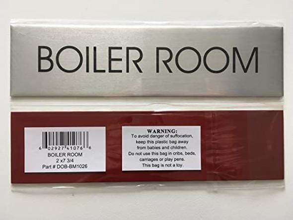 Boiler Room Sign - Delicato line