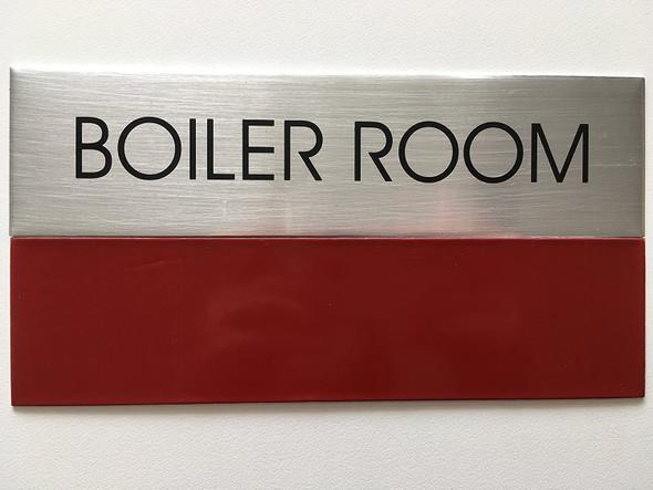 Boiler Room SIGNAGE - Delicato line (Brushed Aluminum)