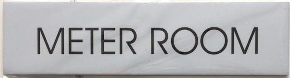 METER ROOM SIGNAGE - Delicato line (BRUSHED ALUMINUM)