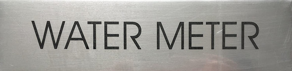 WATER METER SIGN - Delicato line (BRUSHED ALUMINUM)