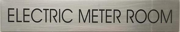 ELECTRIC METER ROOM SIGN - Delicato line