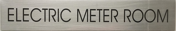 ELECTRIC METER ROOM SIGN - Delicato line (BRUSHED ALUMINUM,)