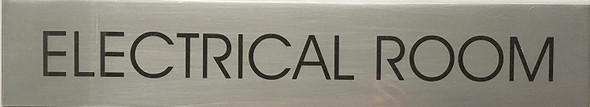 ELECTRICAL ROOM SIGNAGE - Delicato line (BRUSHED ALUMINUM,)