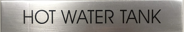 HOT WATER TANK SIGN - Delicato line (BRUSHED ALUMINUM)