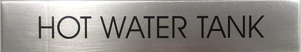 HOT WATER TANK SIGNAGE - Delicato line (BRUSHED ALUMINUM)