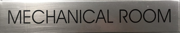 MECHANICAL ROOM SIGNAGE - Delicato line (BRUSHED ALUMINUM, )