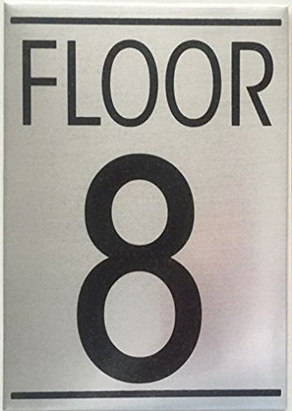FLOOR EIGHT 8 SIGN -Delicato line