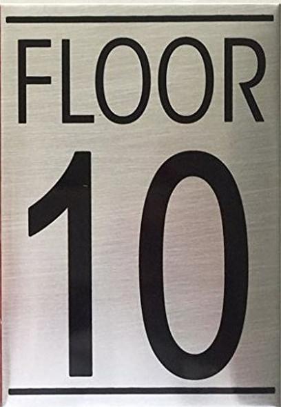 FLOOR TEN 10 SIGN -Delicato line