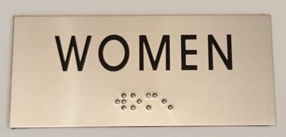 WOMEN Sign -Tactile Signs   Ada sign