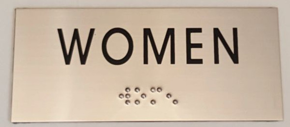 WOMEN Sign -Tactile Signs    Braille sign
