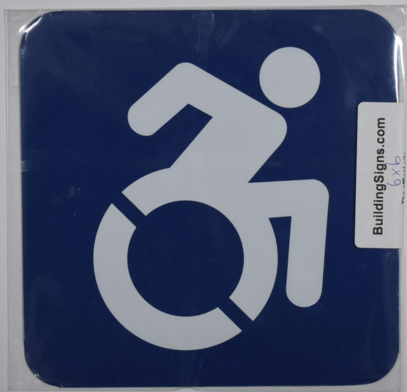 ADA-ACCESSIBLE Symbol Sign Tactile Signs -The Pour Tous Blue LINE  Braille sign
