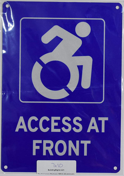 ADA Access at Front Signage-The Pour Tous Blue LINE