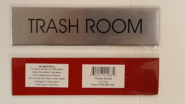 TRASH ROOM - Delicato line (BRUSHED ALUMINUM)