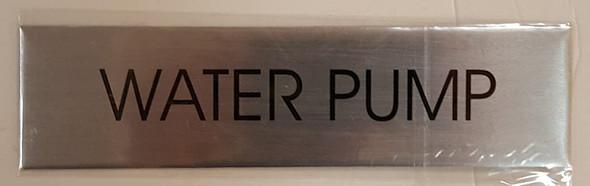 WATER PUMP SIGN - Delicato line