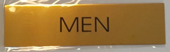 MEN Sign - GOLD ALUMINUM