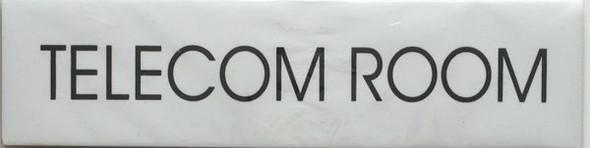 TELECOM ROOM SIGNAGE (WHITE)