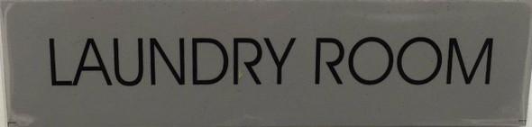 LAUNDRY ROOM SIGNAGE (WHITE )