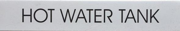 HOT WATER TANK SIGNAGE (WHITE)