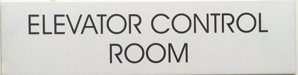 ELEVATOR CONTROL ROOM SIGN (WHITE)