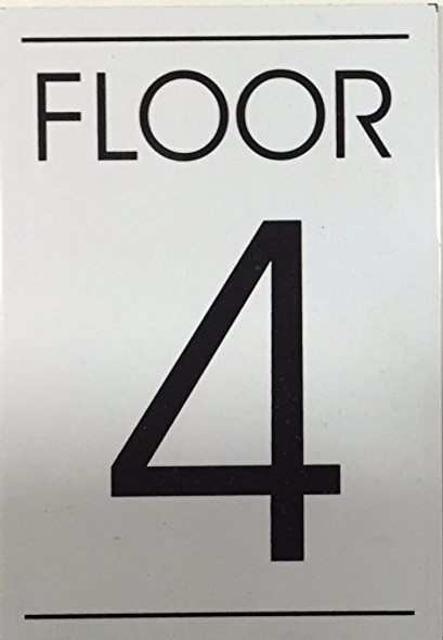 FLOOR NUMBER SIGN  - 4TH FLOOR SIGN