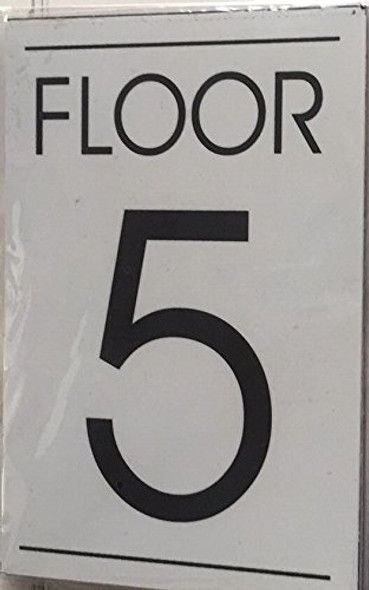 FLOOR NUMBER SIGN  - 5TH FLOOR SIGN