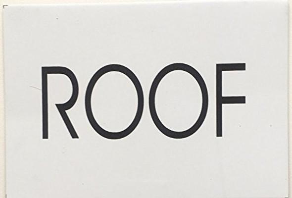 ROOF SIGN (WHITE,Aluminium sign )