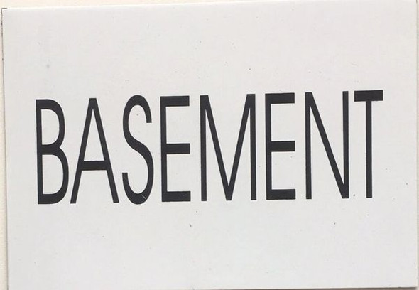 BASEMENT SIGN (WHITE)