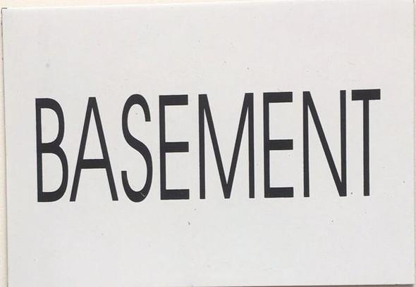BASEMENT SIGNAGE (WHITE)
