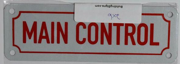 Fire Dept Main Control Sign