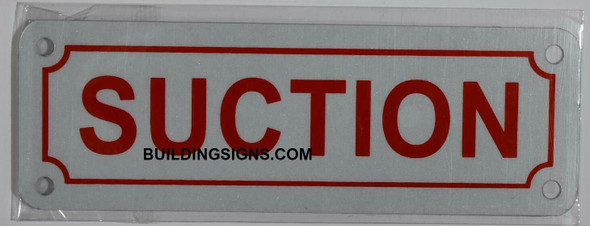 Fire Dept Suction Sign
