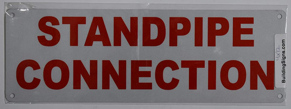 Fire Dept Standpipe Connection Sign