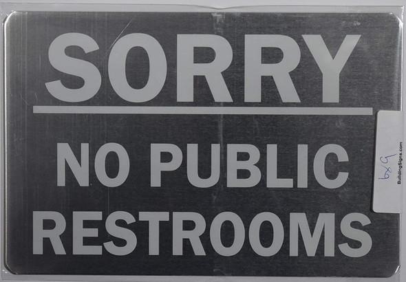 NO Public Restroom Building Sign