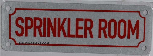 Sprinkler Room Sign