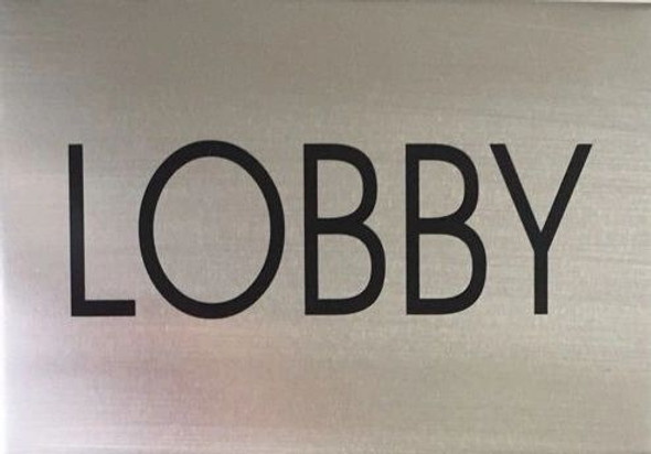 FLOOR NUMBER Sign - LOBBY Sign