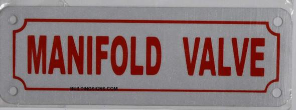Fire Dept MAINFOLD Valve Sign