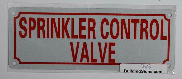 Fire Dept Sprinkler Control Valve Sign