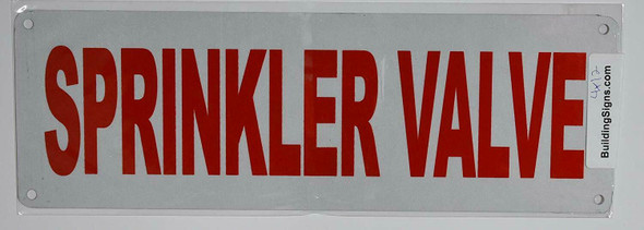 Fire Dept Sprinkler Valve Signage