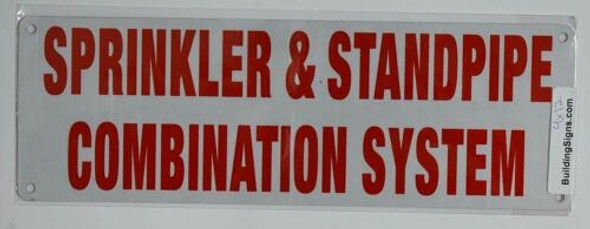 Fire Dept Sprinkler and Standpipe Combination System Sign