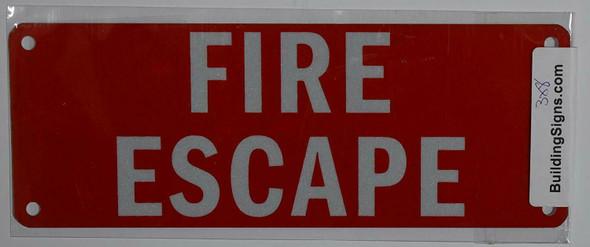 FIRE Escape Sign