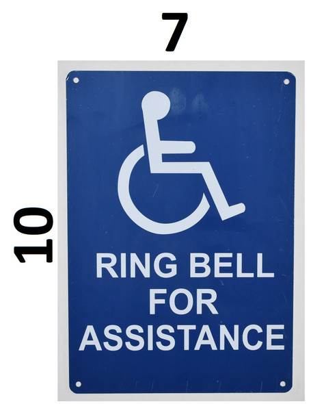 ring bell for assistance sign