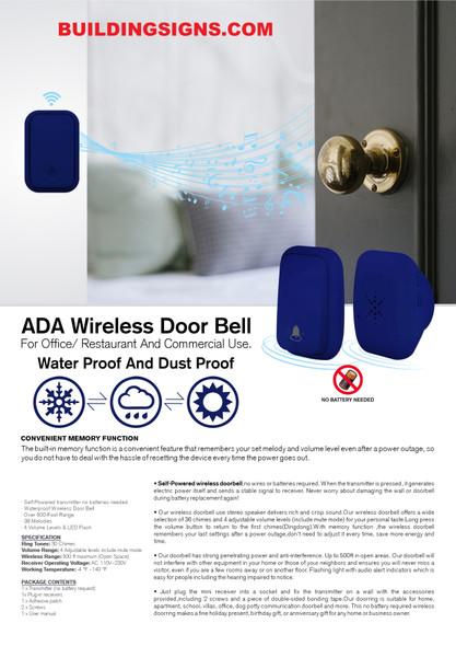 ADA Compliant doorbell