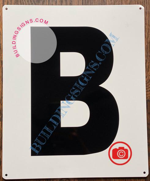 LETTER B SIGN - Parking LOT Number Sign
