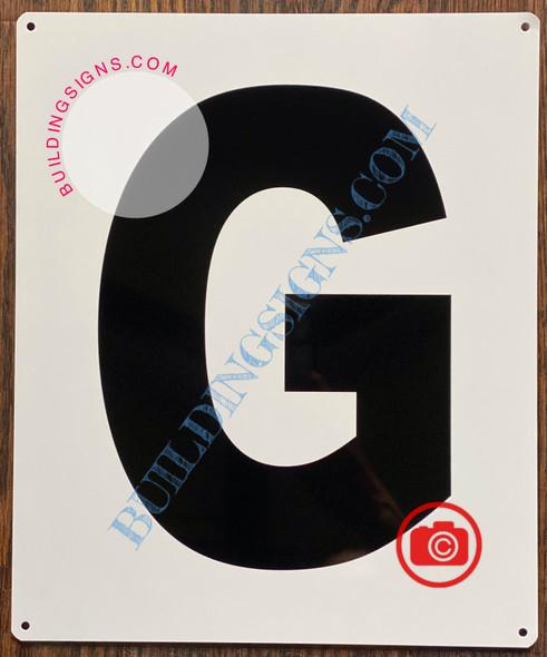 LETTER G SIGN - Parking LOT Number Sign
