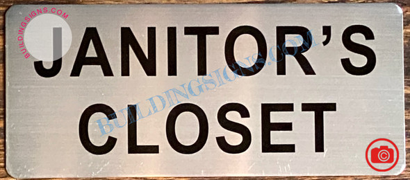 JANITOR'S CLOSET SIGN