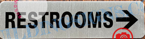 RESTROOMS RIGHT SIGN