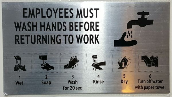 EMPLOYEES MUST WASH HANDS HPD SIGN