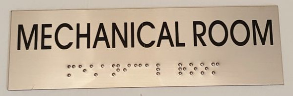 MECHANICAL ROOM Sign -Tactile Signs    Braille sign