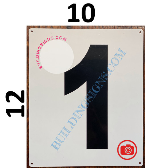 NUMBER 1 SIGN